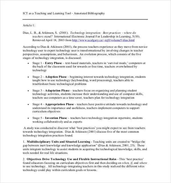 Annotated Bibliography Generator Template 16 Examples In PDF Word Free Amp Premium Templates