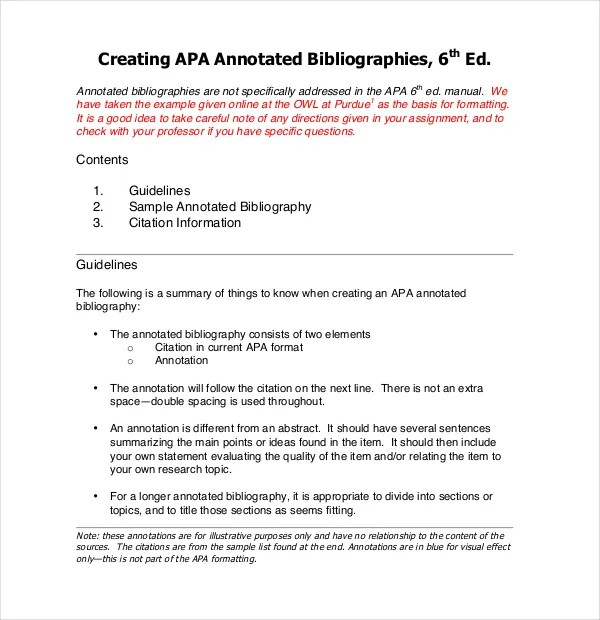annotated bibliography latex template