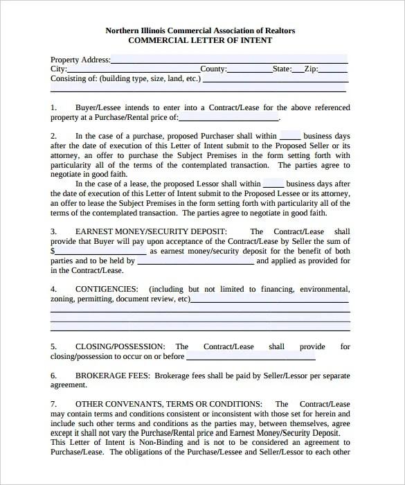 Non Binding Offer Vs Letter Of Intent