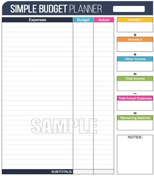 Easy Budget Spreadsheet Template budget templates free sample – Sample Budget Worksheet