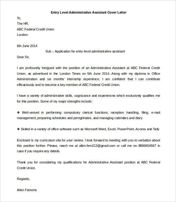 Trend Cover Letter For Office Administrative Istant 68 On Exles Of Letters With