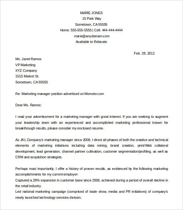 Application Letter Format For Job Download Cover Letter Template