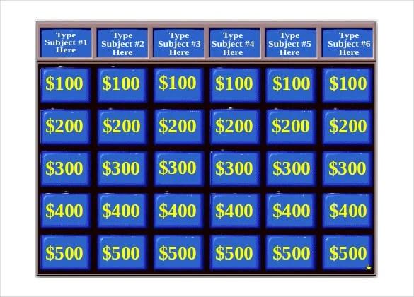 Free Jeopardy Powerpoint Template powerpointgames powerpoint game – Jeopardy Powerpoint Template