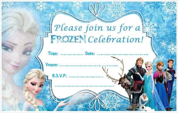 frozen birthday invitation templates