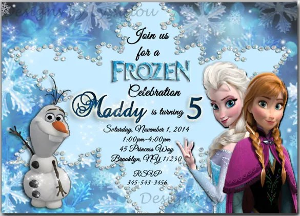 frozen birthday invitation templates