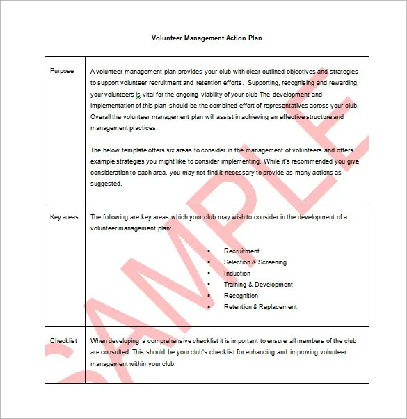 9 action plan templates free sample example format download free – Task Action Plan Template
