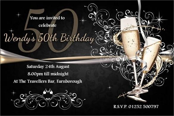 45 50th Birthday Invitation Templates Free Sample Example Format Download Free Premium Templates