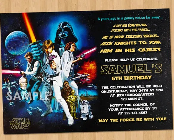 11 Star Wars Birthday Party Invitations Psd Vector Eps Ai Format Download Free Premium Templates