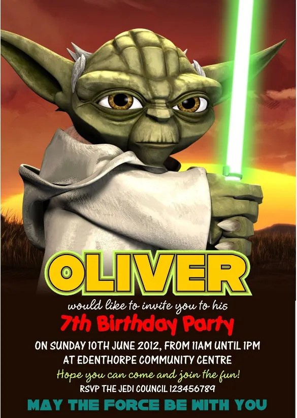 11 Star Wars Birthday Party Invitations PSD Vector EPS AI Format Download Free Amp Premium