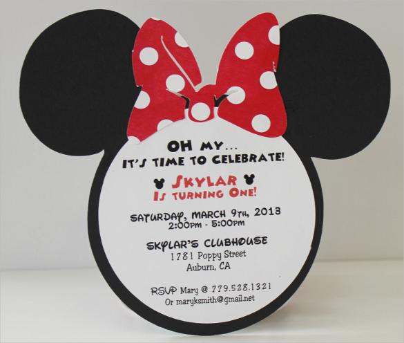 33 Minnie Mouse Birthday Invitation Templates Psd Word Ai Free Premium Templates