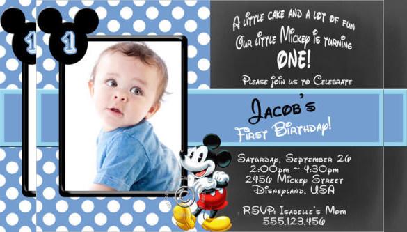 20 Mickey Mouse Birthday Invitation Templates Free Sample