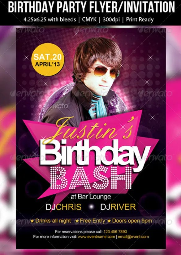 26 Photo Birthday Invitation Templates Psd Vector Eps
