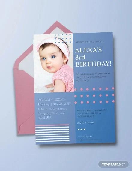 39 kids birthday invitation templates