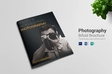 Free Brochure Templates   60  Free PSD  AI  Vector EPS Format     Photography A4 Bi Fold Brochure Template