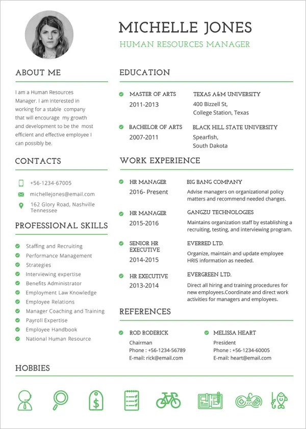 37 Resume Template Word Excel Pdf Psd Free Premium