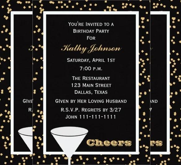 40 Adult Birthday Invitation Templates Psd Ai Word
