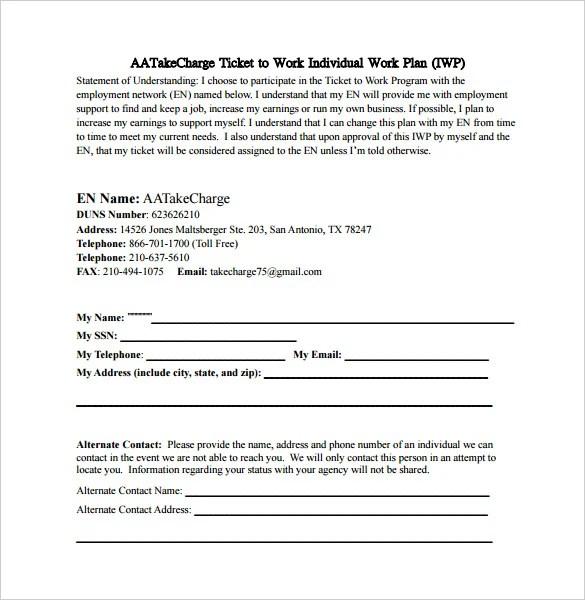 15 Work Plan Templates Free Sample Example Format