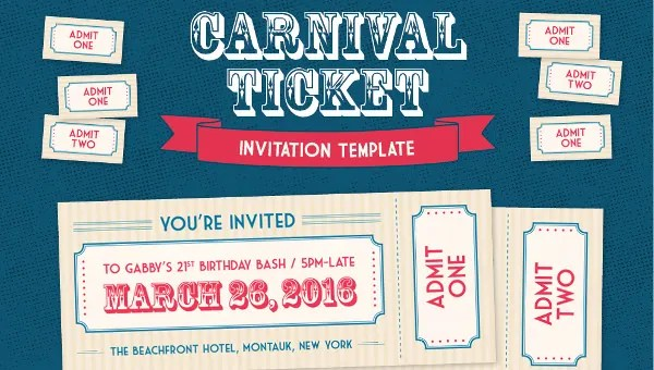 37 Carnival Birthday Invitation Templates Free Sample Example Format Download Free Premium Templates