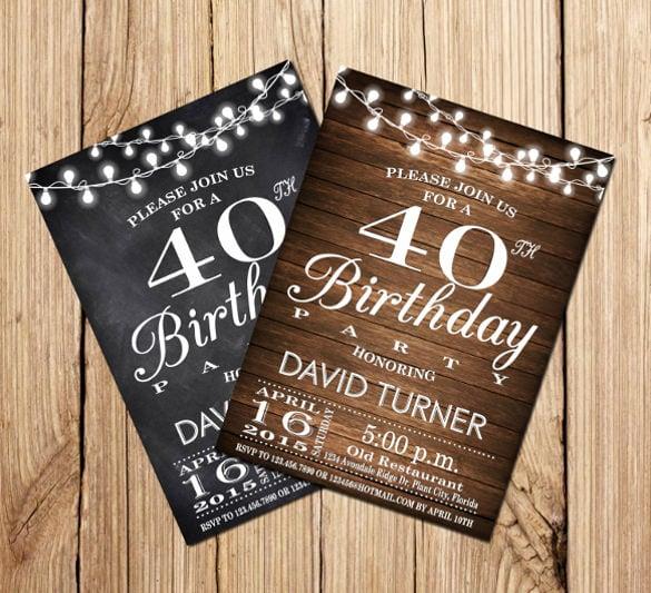 Surprise 40th Birthday Invitation