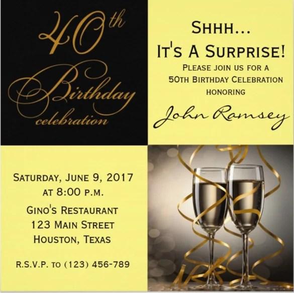 40th Birthday Invitations 14 Free Psd Vector Eps Ai Format