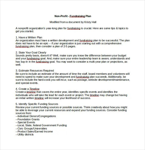 11 Free Fundraising Plan Templates Word Pdf Apple Pages