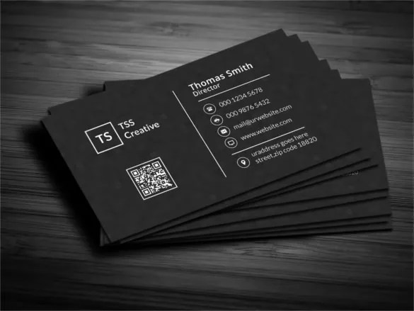 45  Cool Business Cards   PSD  EPS  Illustrator Format Download     Modern Dark Pixels Business Card Template PSD
