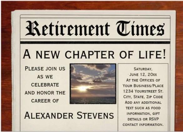Retirement Invitation Template Free Psd Vector Eps Ai Templates