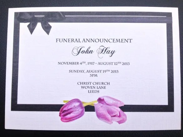 pictures free free cards funeralprogram site com yelp – Funeral Service Announcement Template