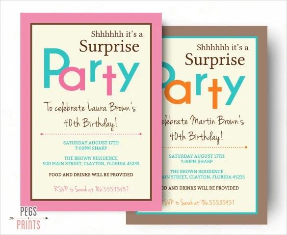 surprise birthday invitation templates