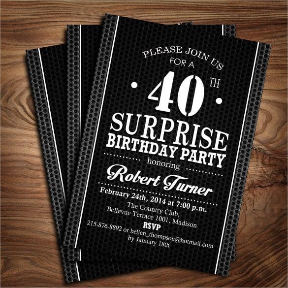 26 40th Birthday Invitation Templates Psd Ai Free
