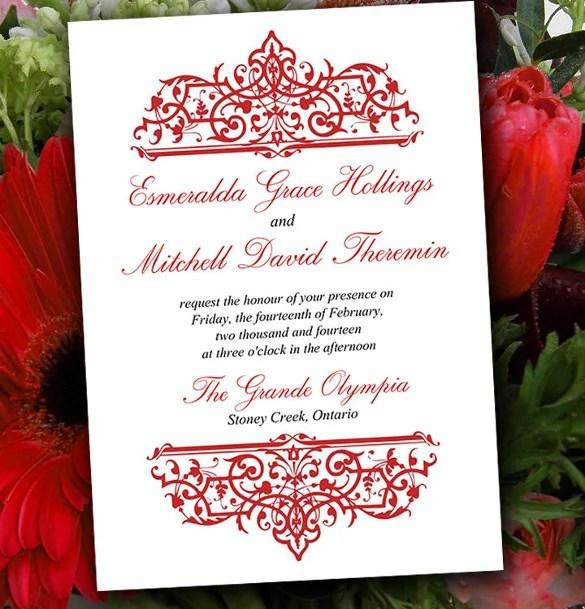 Wedding Invitation Layout Plumegiant