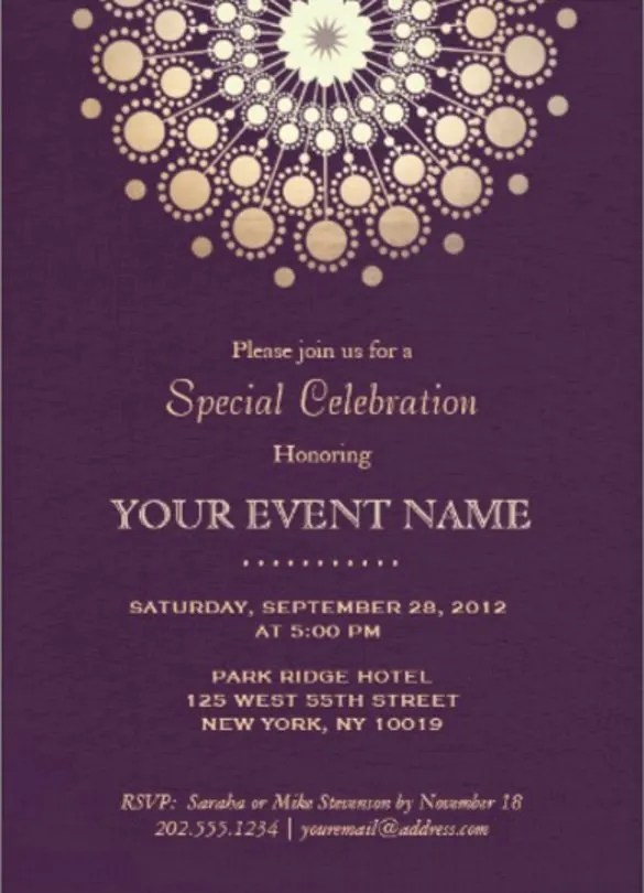 Example Invitation Card – Example of Invitation Card