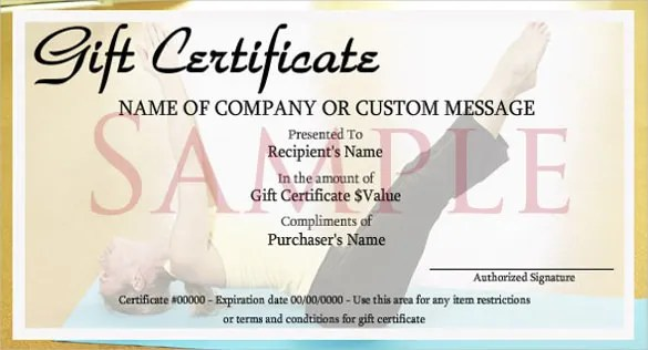 Fitness Gift Certificate Template Gift Coupons Template – Fitness Gift Certificate Template