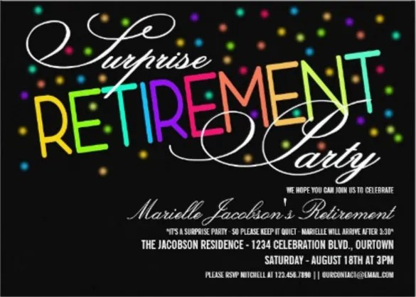 29 Retirement Invitation Templates PSD AI Word Free