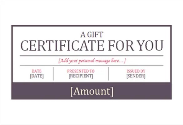 Prize Voucher Template free online gift certificate creator – Prize Voucher Template