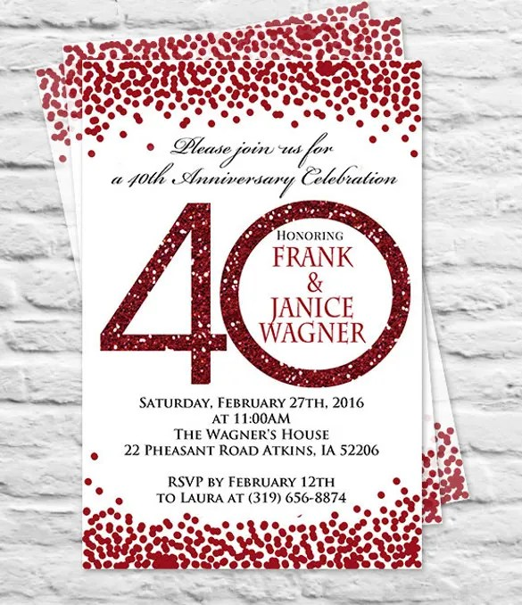 28 Anniversary Invitation Templates