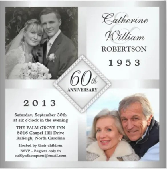 This Wedding Anniversary Invitation Cards Comes With 25th Templates As Well 50th