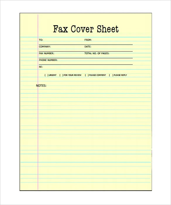 free printable fax cover sheets template pdf download