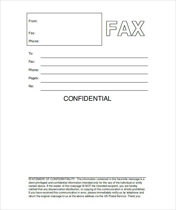 Resume Professional Format Doc Printable Fax Cover Sheet 10 Free