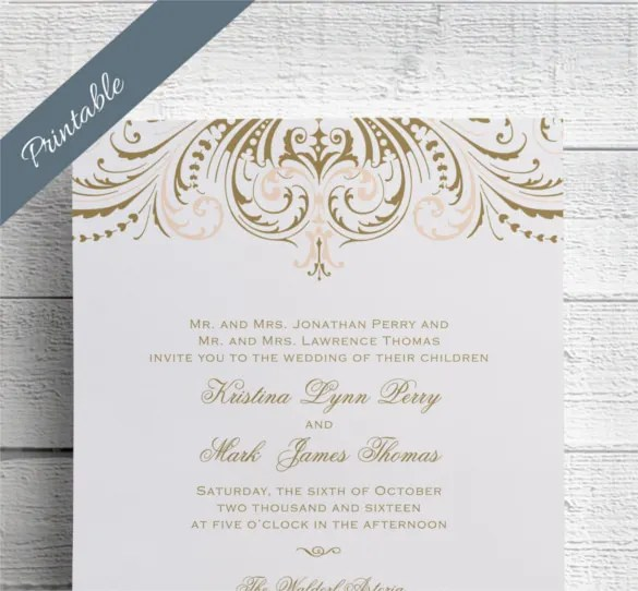 Say It With Blush And Gold Make Your Wedding Invitation Special This Day Is In Everyone S Life We All Are Ready To Do Anything For