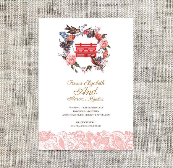 Chinese Wedding Invitation Wording Templates Microsoft Word ...
