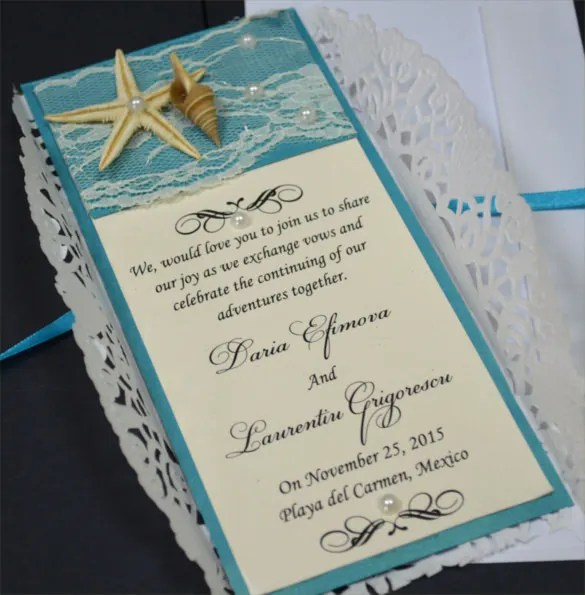 Casual Wedding Invite Wording Fun Beach Informal W