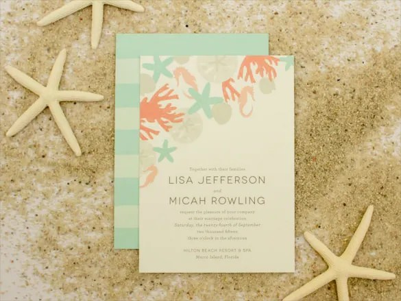 Say It With Sea Ss Beach Wedding Invitation And Set Standards High For Your Guests Who D Be Attending Soon This Is Best Couples