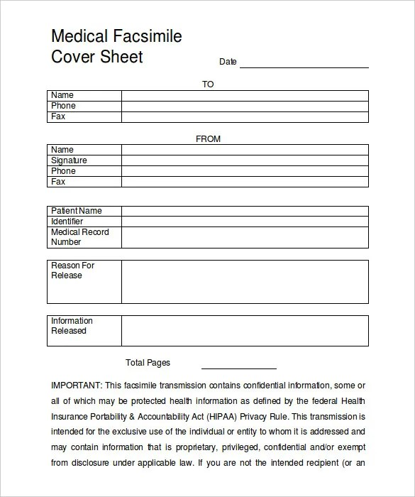 Free fax cover sheet resume – Fax Template Free