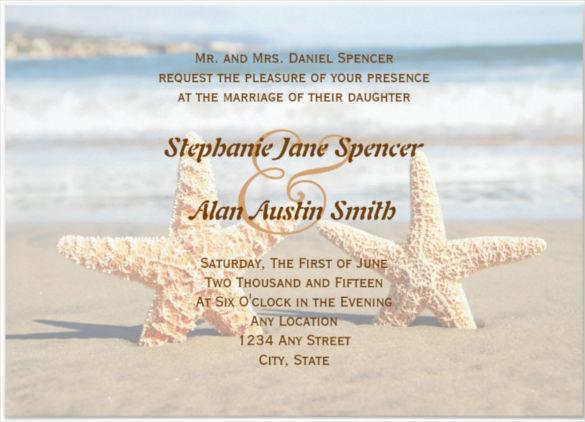 Beach Wedding Invitation Template and image composition for – Make Your Own Beach Wedding Invitations
