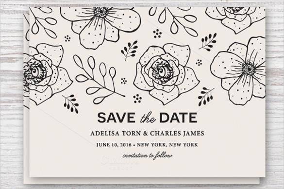 Save Date Calendar Postcard