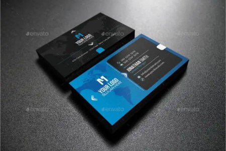 33  Free Business Cards   PSD  AI  Vector EPS   Free   Premium Templates blue and blue business card template free editable1