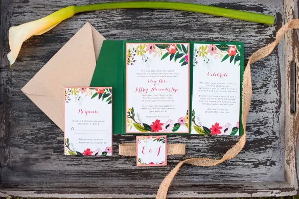 Clutch Pocket Invitations Wedding