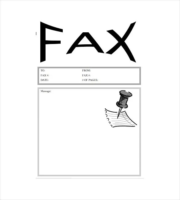 Doc474616 Facsimile Cover Sheet Template Word Fax Format 75 – Fax Template for Word
