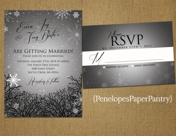 Winter Wonderland Wedding Invitations Nm94